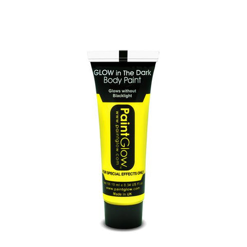 PAINTGLOW UV NEON GLOW IN THE DARK FACE AND BODY PAINT GIALLO 13 ML ORIGINAL FROM UK