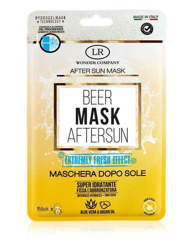 BEER MASK AFTER SUN LR WONDER - MASCHERA VISO DOPOSOLE IN TESSUTO