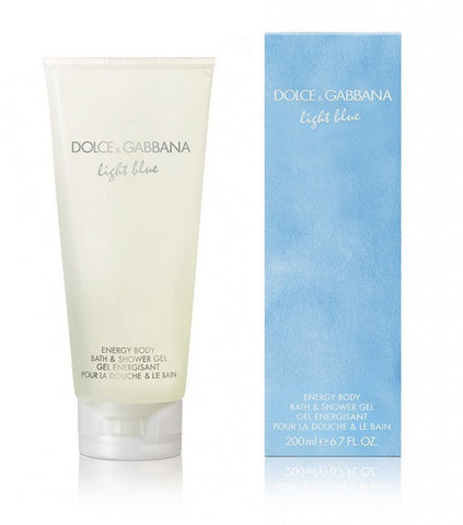 DOLCE & GABBANA LIGHT BLUE ENERGY BODY BATH & SHOWER GEL 200 ML