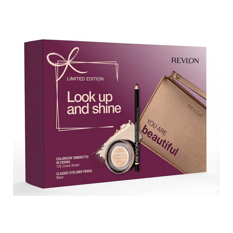 Set Regalo Ombretto in crema Waterproof e Matita Occhi con Beauty Revlon Wonderful Eyes Set Regalo con 2 Prodotti Make Up