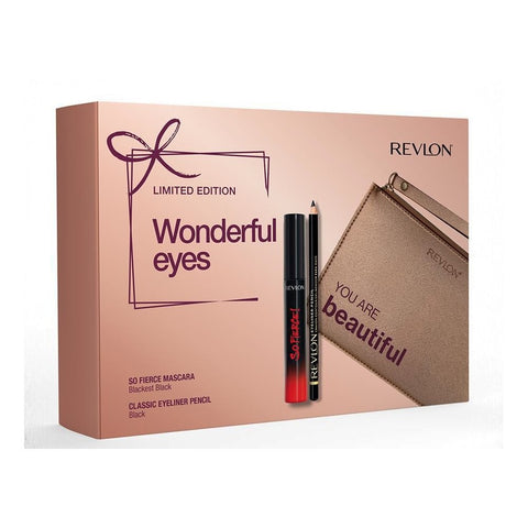 Set Regalo Mascara Volume e Lunghezza e Matita Occhi con Beauty Revlon Wonderful Eyes Set Regalo con 2 Prodotti Make Up