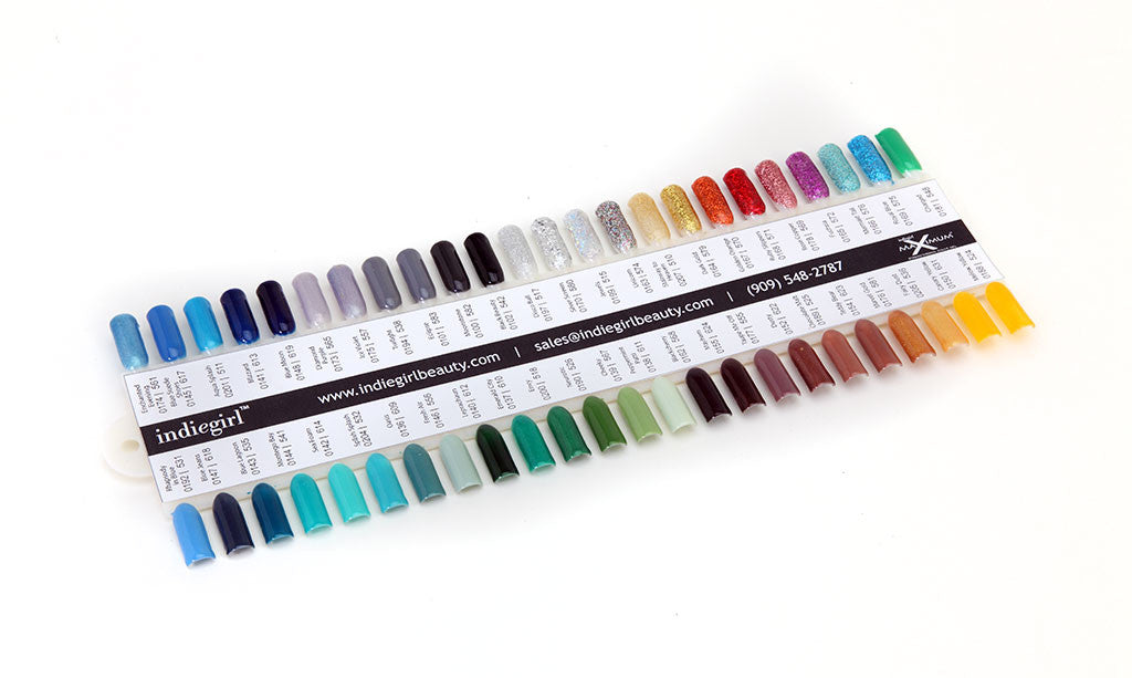 indiegirl Nail Tip Color Display | 0001