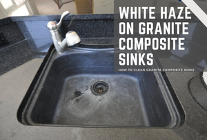 White Haze On Granite Composite Sinks