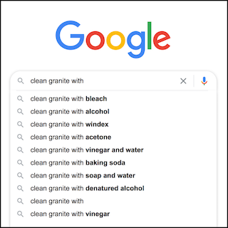 clean granite common searches