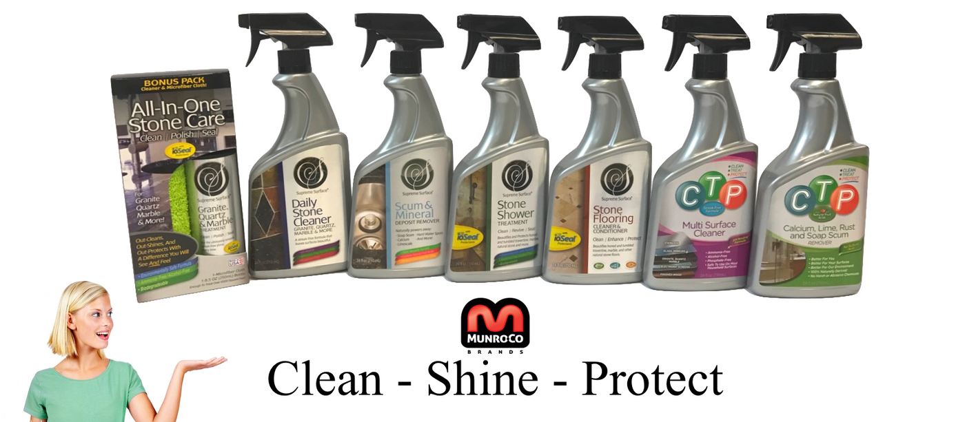 Supreme Surface Stone Shower Cleaner And Conditioning Treatmentt 24