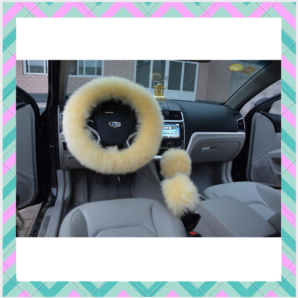 Fuzzy Steering Wheel Cover