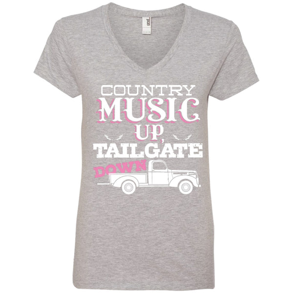 Apparel - Country Music Up Tailgate Down