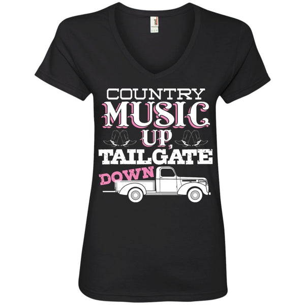 Apparel - Country Music Up, Tailgate Down *Sale