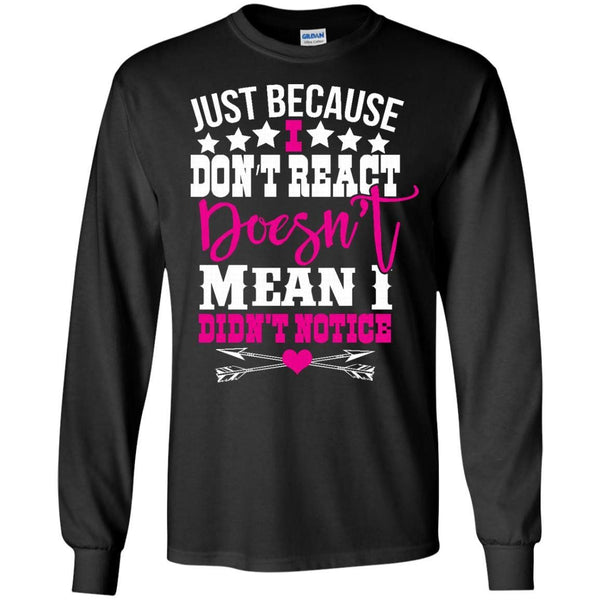 Apparel - I Don't React *Pink