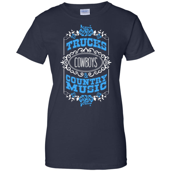 Apparel - Trucks, Cowboy Boots & Country Music *Blue Sale