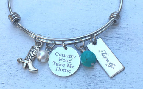 The Country Road Take Me Home Bangle