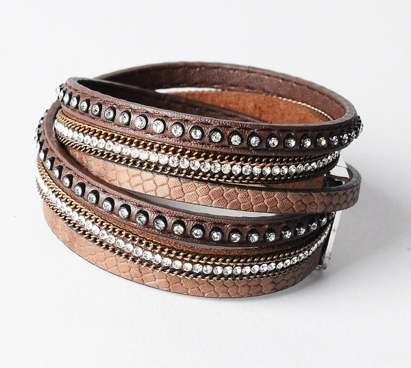 The Double - Loop Leather Bracelet