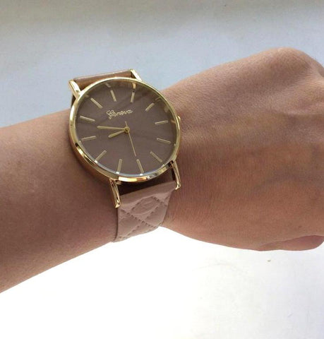 Watch - The Leather Quilt Watch