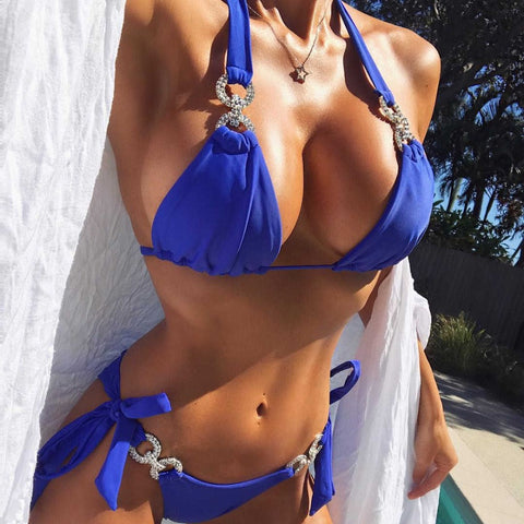 """Deep Blue"" Two Piece - SwimClassy"