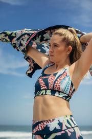 Floral Botanical Free My Heart Sports Bra