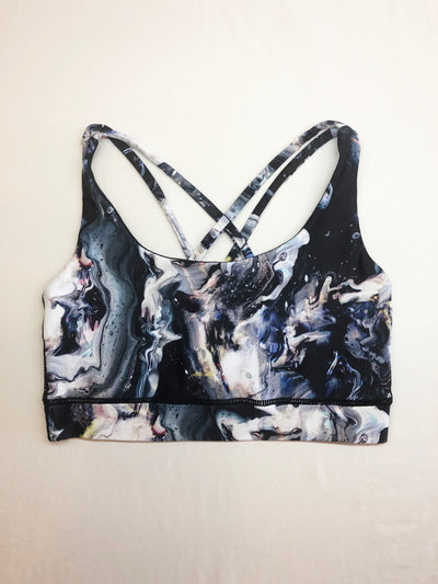 Marble Galaxy Free My Heart Sports Bra