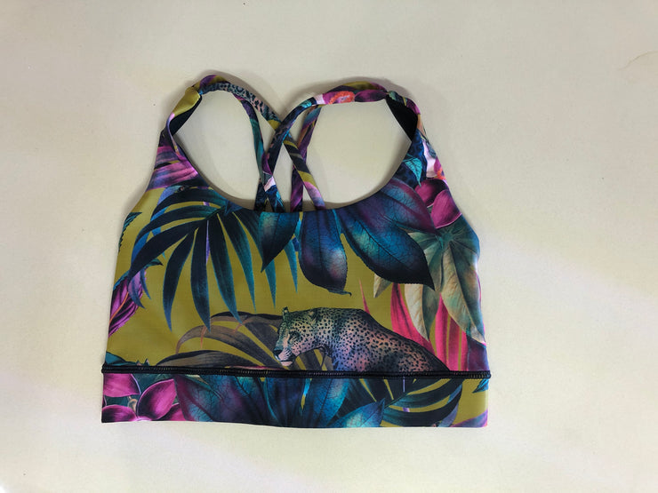 Lush Leopard Green Free My Heart Sports Bra