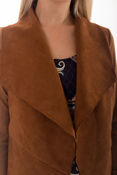 Brown Waterfall Suede Luxe Jacket