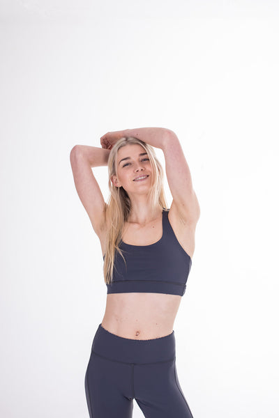 Grey Free My Heart Sports Bra