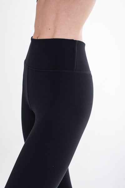 Black Seamless Compression F/L Tights