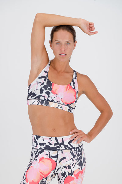 Blooming Wild Free My Heart Sports Bra