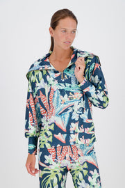 Floral Botanical Heritage Ribbed Pullover