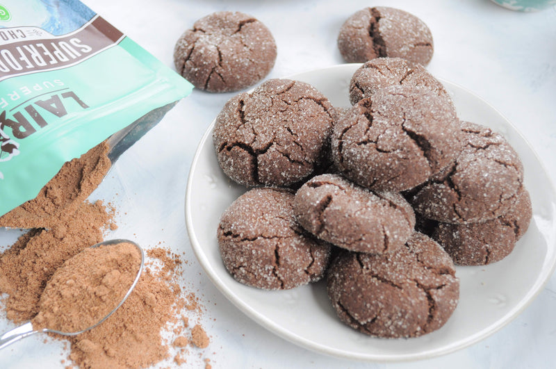 Chocolate Mint Crinkle Cookies | Laird Superfood®