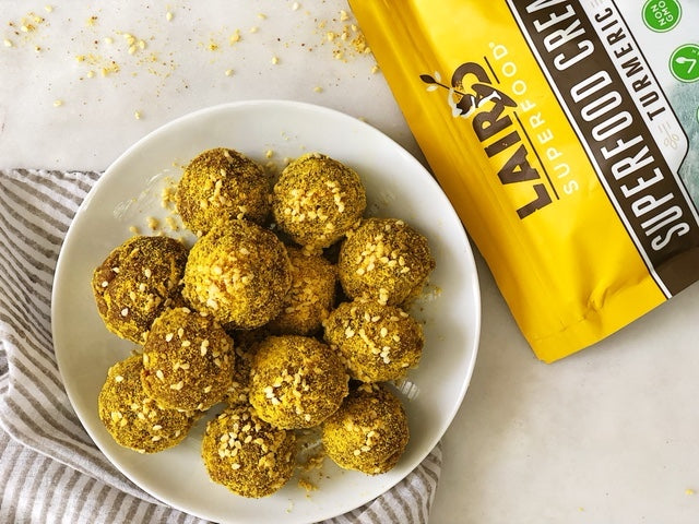 Golden Energy Bites with Turmeric Superfood Creamer