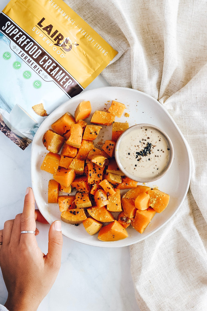 Roasted butternut squash with turmeric recipe