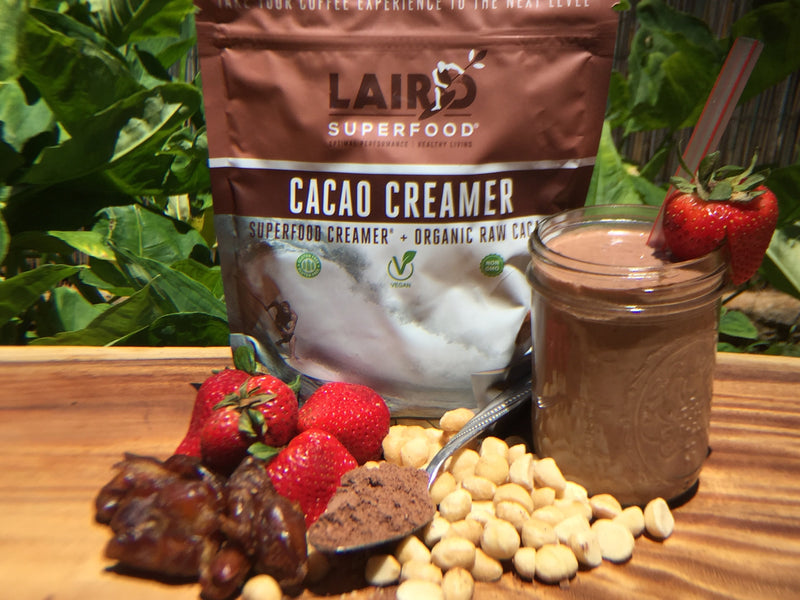 Plant based cacao strawberry smoothie recipe