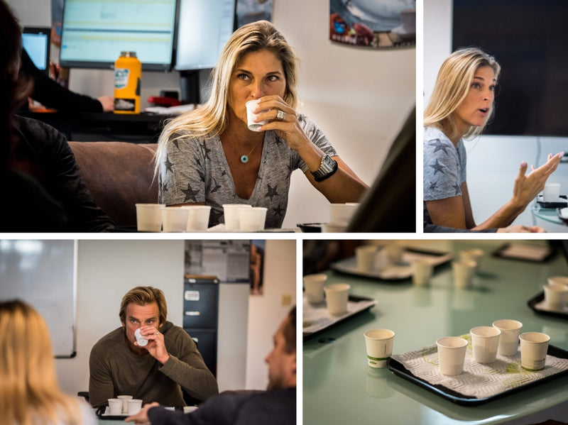 Gabby Reece and Laird Hamilton testing future Laird Superfood products