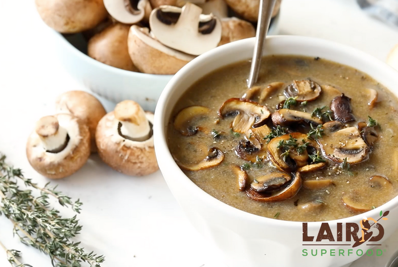 Plant-based, mushroom soup recipe