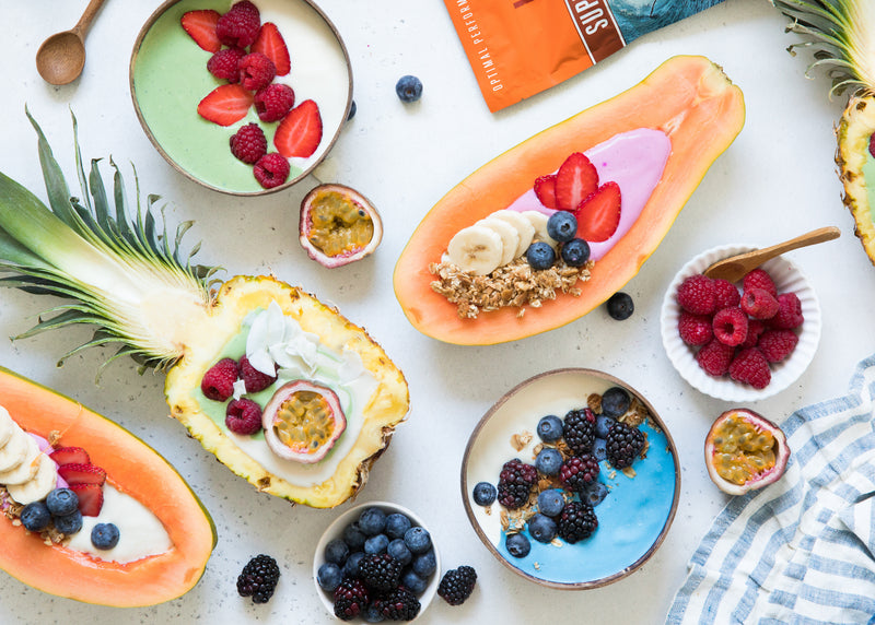 Vegan Fruit and Yogurt Bowls Recipe