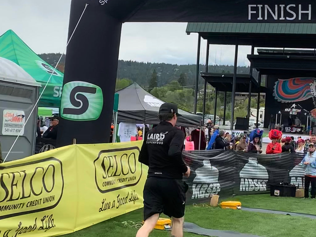 Finish line for team Laird Superfood
