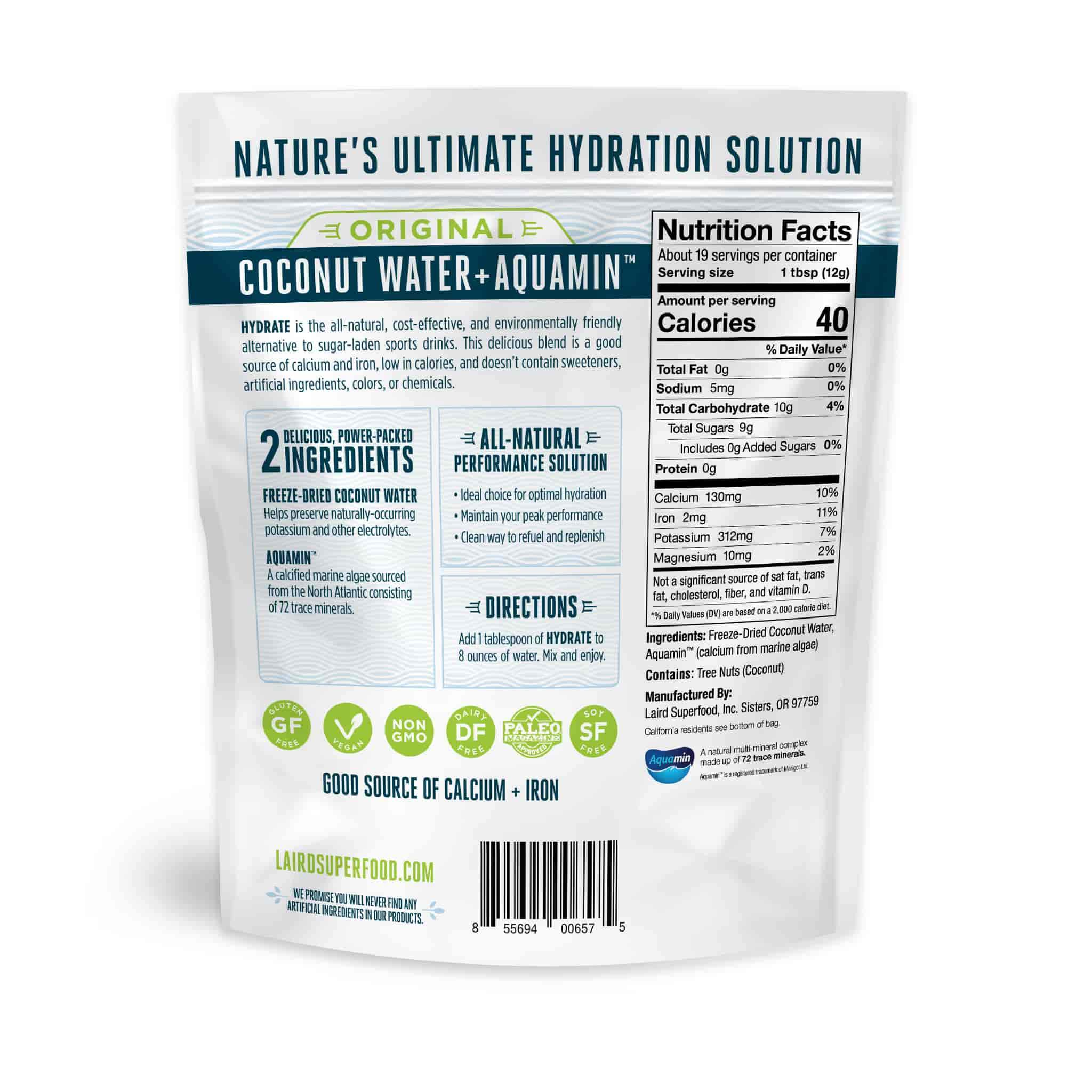 Coconut water drink mix. Powdered coconut water.
