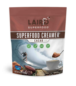 Raw cold-pressed cacao superfood creamer