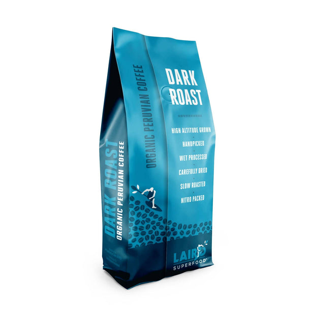 Organic Ethically Sourced Whole Bean Coffee Dark Roast Laird Superfood