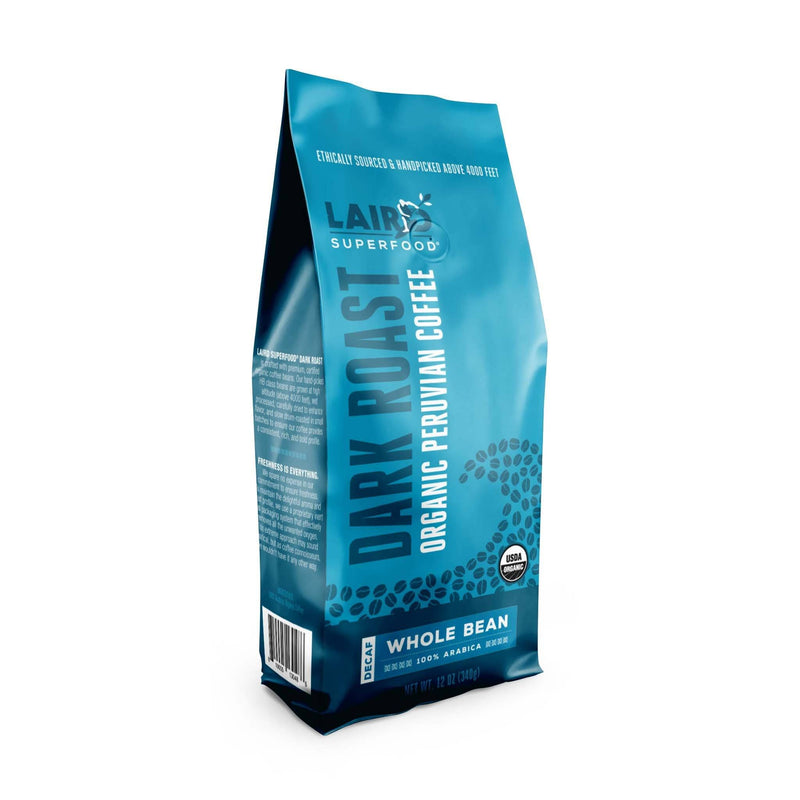 Peruvian Dark Roast Decaf Whole Bean Coffee