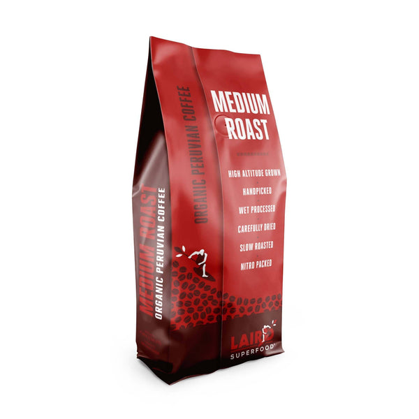 Organic whole bean medium roast Peruvian coffee