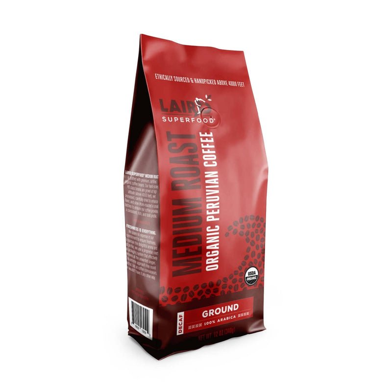 Peruvian Medium Roast Decaf Ground Coffee