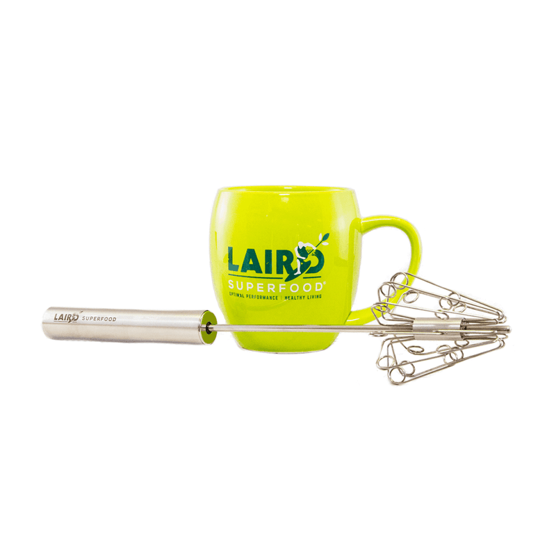 Green Mug with Hand Frother