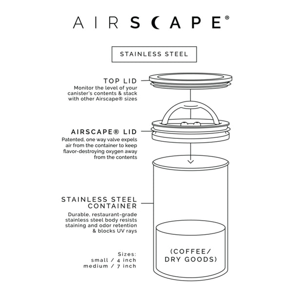 Airscape Coffee and Food Storage