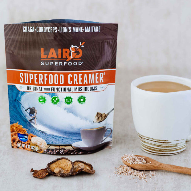 Plant Based Creamer with Functional Mushroom Extracts