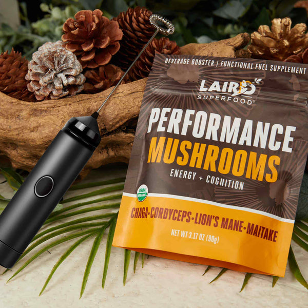 Performance Mushrooms + Power Frother Bundle