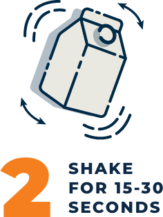 2. Shake for 15 to 30 seconds
