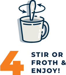 4. Stir or froth and enjoy