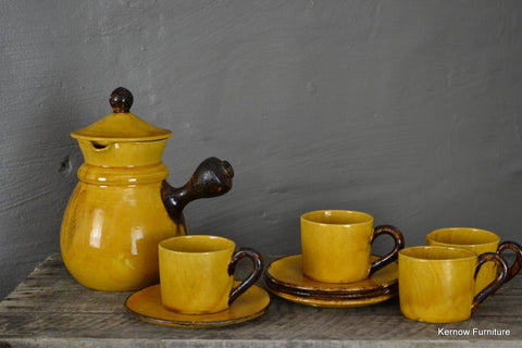Saltalamacchia Aegitna Vallauris Coffee Set Pot Cups & Saucers