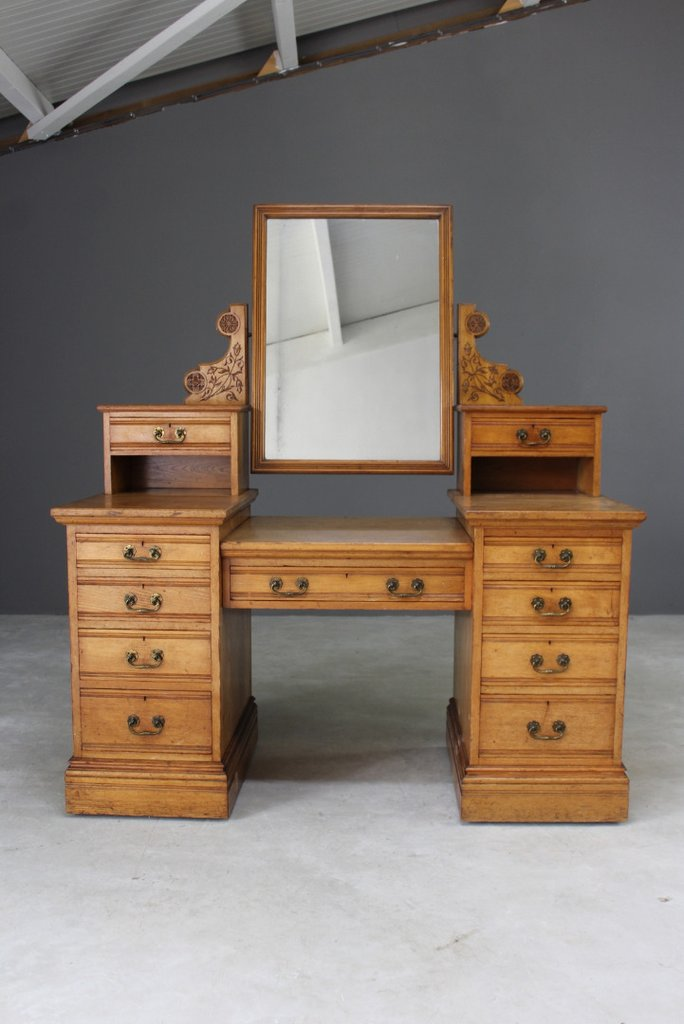 Antique Edwards & Roberts Ash Dressing Table