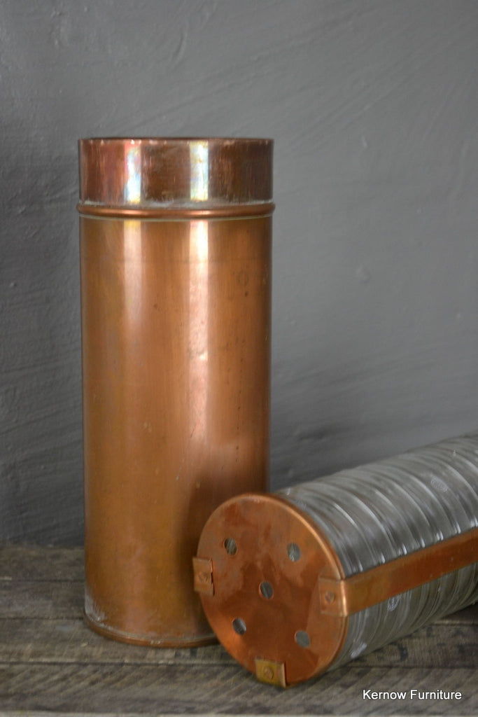 Antique Copper Steralization Canister - Kernow Furniture 100s vintage, retro & antique items in stock