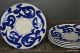 4 Royal Cauldon Blue Scroll Saucers - vintage retro and antique furniture